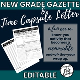 New Grade Gazette and Time Capsule Letter