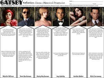 New Great Gatsby Movie Handout