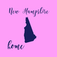 New Hampshire Clipart, USA State Clipart, New Hampshire Home, Gold USA Clipart