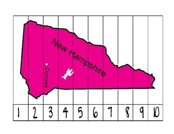 New Hampshire Counting Map Puzzle
