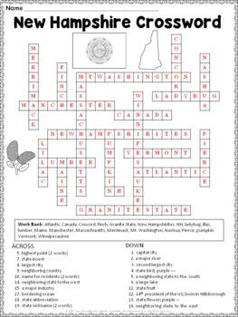 New Hampshire Crossword Puzzle