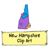 New Hampshire Geographic Regions Clip Art (Commercial Use)