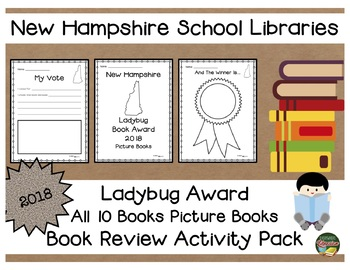New hampshire ladybug book award 2018 book review activity pack tpt new hampshire ladybug book award 2018 book review activity pack ccuart Choice Image