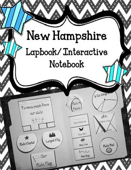 New Hampshire State Lapbook/Interactive Notebook. US State
