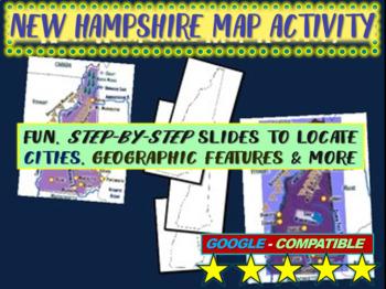 New Hampshire Map Activity- fun, engaging, follow-along 20
