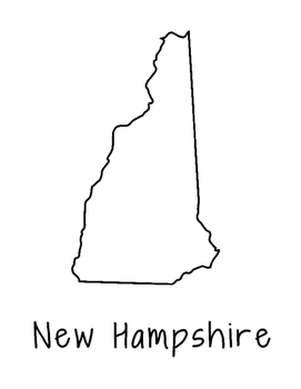 New Hampshire Coloring Page Craft - Lots of Room for Note-Taking & Creativity