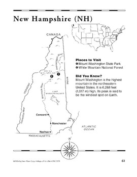New Hampshire (Map & Facts)