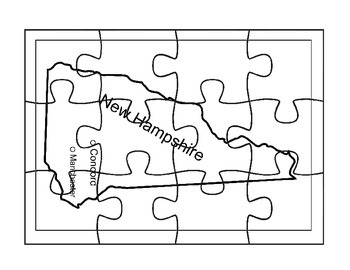 New Hampshire Map Puzzle Activity