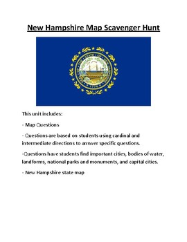 New Hampshire Map Scavenger Hunt