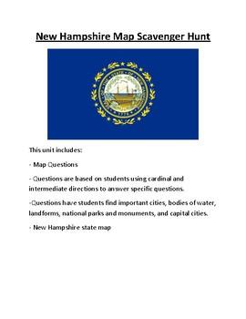 New Hampshire Map Scavenger Hunt