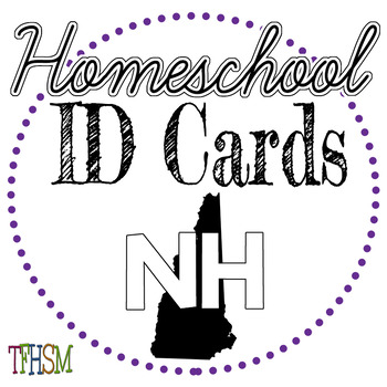 New Hampshire (NH) Homeschool ID Cards for Teachers and Students
