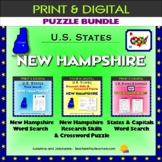 New Hampshire Puzzle BUNDLE - Word Search & Crossword Activities - U.S States
