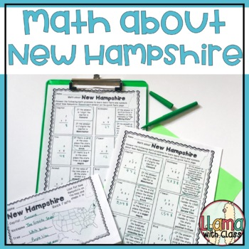 Math about New Hampshire State Symbols through Multiplication Practice