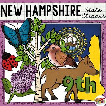 New Hampshire State Clip Art
