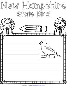 New Hampshire State Symbols Notebook