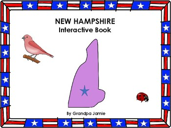 New Hampshire State interactive book grades pre-k - 2nd: autism, social studies