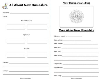 New Hampshire Webquest Common Core Research Mini Book
