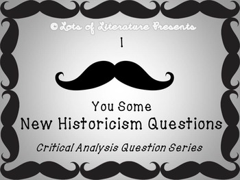 New Historicism Literary Analysis Cards