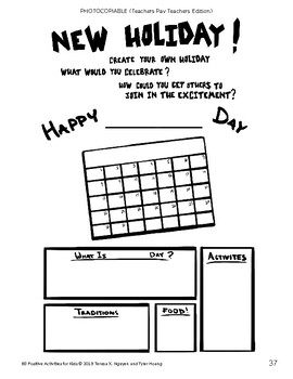 New Holiday Planner Prompt Activity