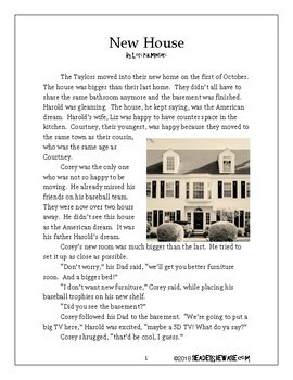 New House - Short Story and Comprehension Activities