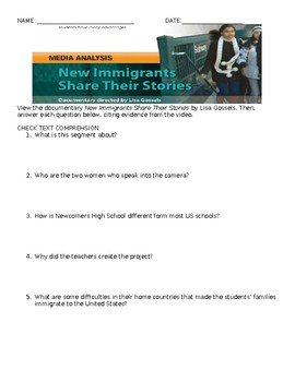 New Immigrants Share their Stories Comprehensive Study Guide