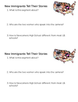 New Immigrants Share their Stories Mini-Quiz/Check for Understanding