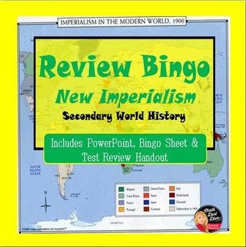 New Imperialism Bingo Review Game (World History)