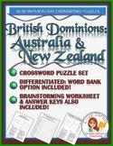 New Imperialism Worksheet Puzzle: British Dominions -- Australia & New Zealand