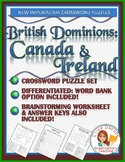New Imperialism Worksheet Puzzle: British Dominions -- Canada & Ireland