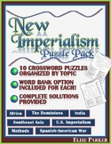 New Imperialism Worksheets Puzzle Bundle: New Imperialism Crossword Puzzles