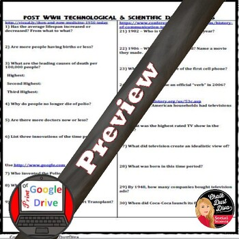 New Innovations Post World War II America WebQuest