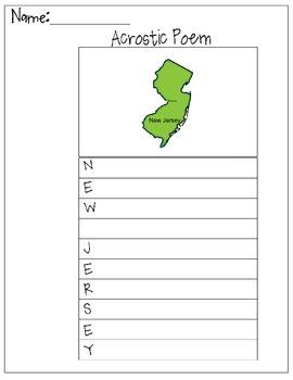 New Jersey Acrostic Poem