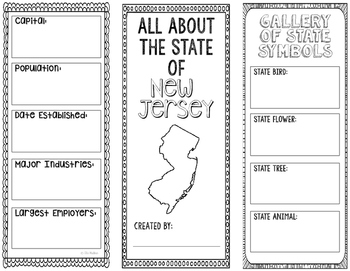 New Jersey - State Research Project - Interactive Notebook - Mini Book