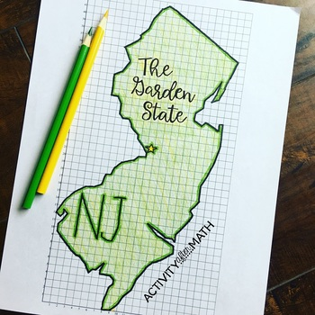New Jersey Coordinate Graphing Picture 1st Quadrant & ALL 4 Quadrants