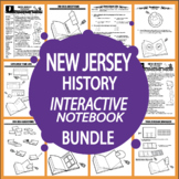 New Jersey History State Study Interactive Notebook Unit + AUDIO