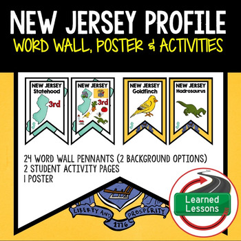 New Jersey History Word Wall, State Profile, Activity Pages