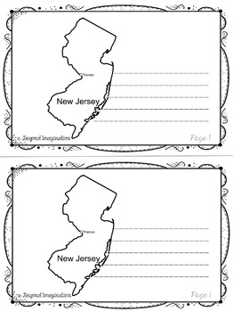 New Jersey | State Study | 56 Pages for Differentiated Learning + Bonus Pages