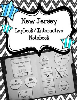New Jersey State Lapbook/Interactive Notebook.  US State H