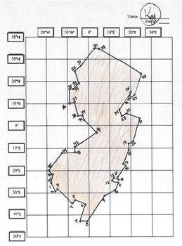 New Jersey Latitude and Longitude Coordinates Puzzle - 47 Points to Plot