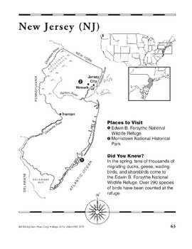 New Jersey (Map & Facts)