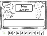 New Jersey Read it, Build it, Color it Learn the States preschool worksheet.