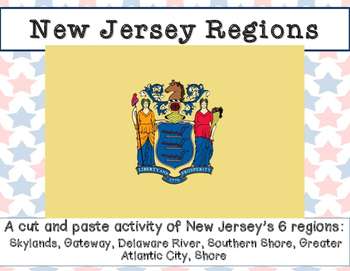 New Jersey Regions- A cut and paste activity