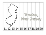 New Jersey State Capitol Number Sequence Puzzle 11-20.  Geography and Numbers.