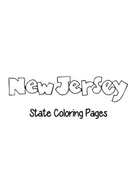 New Jersey State Coloring Pages