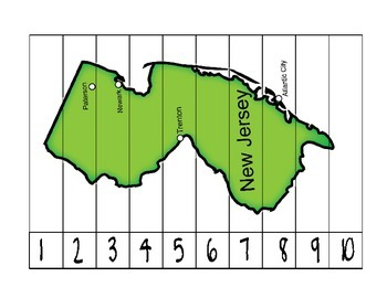 New Jersey State Counting Map Puzzle