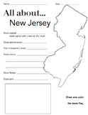 New Jersey State Facts Worksheet: Elementary Version