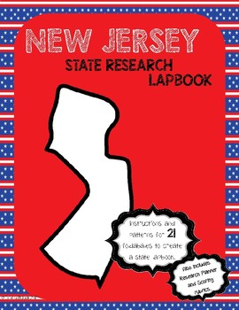 New Jersey State Research Lapbook Interactive Project