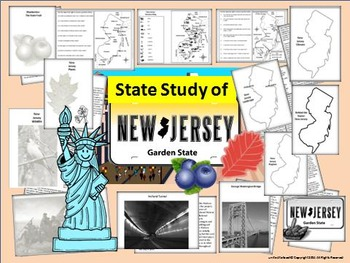 New Jersey State Study, Interactive Notebook & Bulletin Bo