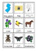 New Jersey State Symbols themed 3 Part Matching Game. Preschool Card Game.