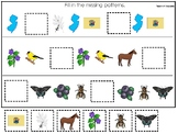 New Jersey State Symbols themed Fill In the Missing Pattern Game. Preschool Game